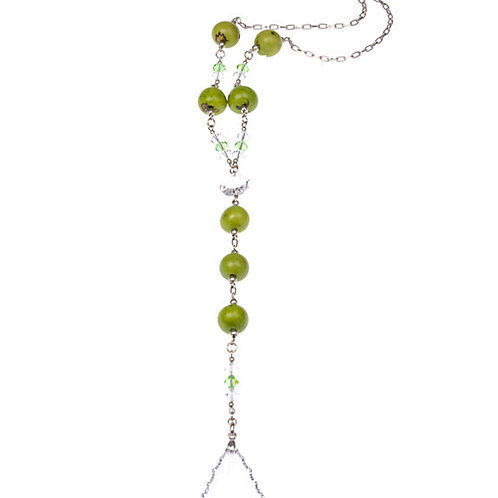 Swarovski Crystal with Acai Berry Long Necklace