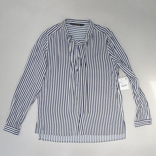 Zara Striped Long Sleeve Top Blouse Size S
