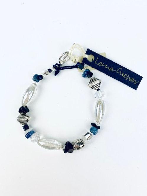 Sodalite, Quartz + Glass Bead Lorna Grewar Bracelet