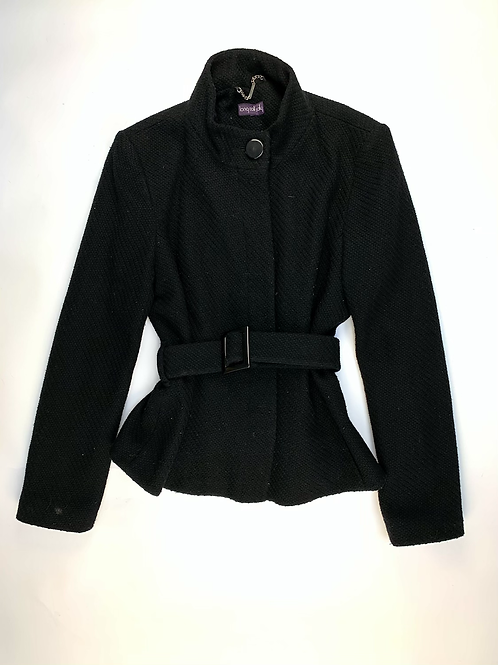Long Tall Sally Wool Black Short Coat Size M