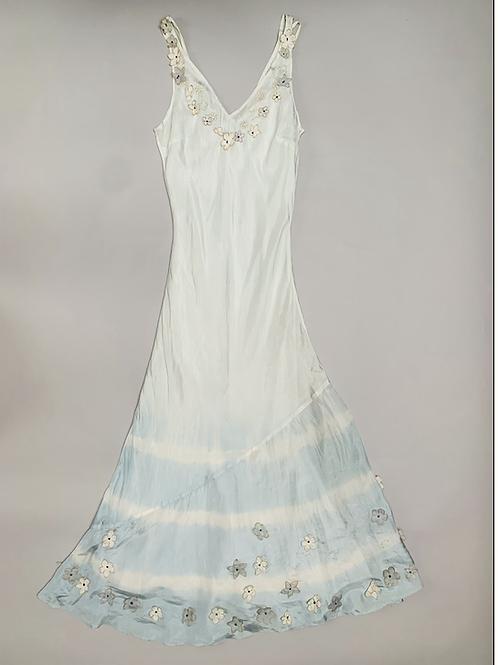 Fenn Wright Manson Light Blue Silk Dress