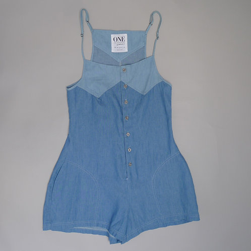 One Bali Denim Playsuit Size S Small