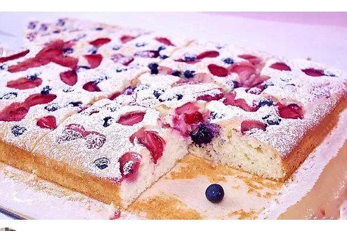 Nina's Raspberry and Blackcurrant cake (Year 2)