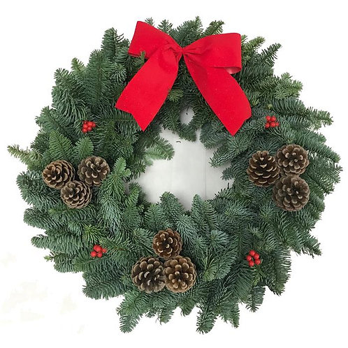 Classic Christmas Wreath 14""