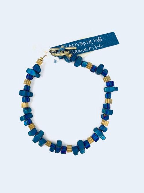 Electroplated Hematite + Gold Bead Lorna Grewar Bracelet