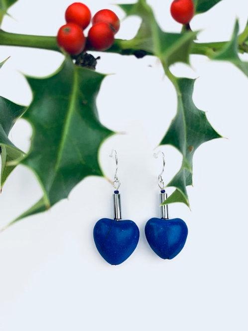 Blue Heart Statement Lorna Grewar Earrings