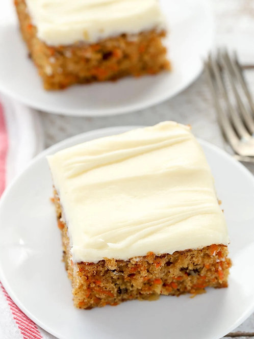 Jennie's scrumptious carrot cake (Reception)