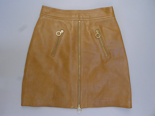 Michael Michael Kors Camel Leather Skirt US 2 (UK6-8)