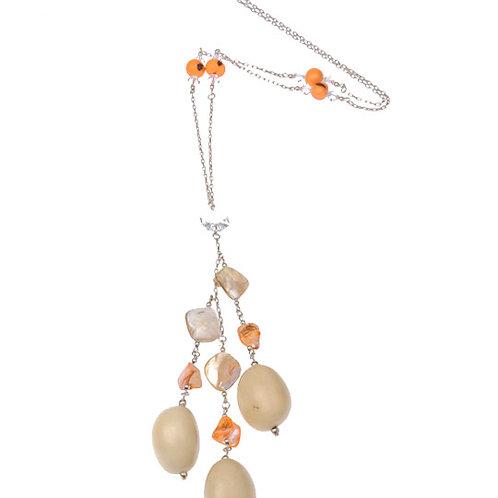 Swarovski Crystal Amazon Seeds Long Necklace