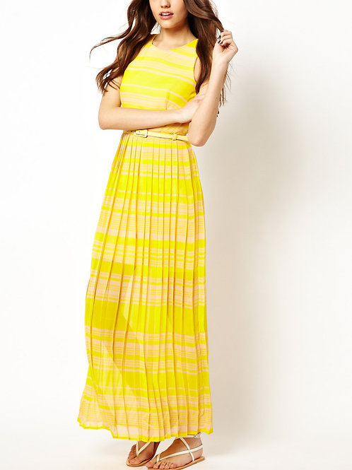 French Connection London Rock Yellow Maxi Dress UK 8