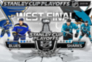 NHL Western Conference Final - San Jose Sharks vs St. Louis Blues Poster/Wallpaper