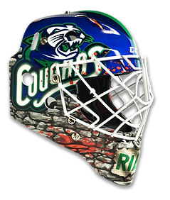 Custom Design Goalie Mask Vinyl Wraps by MASK WRAPS in Mississauga, Ontario, Canada