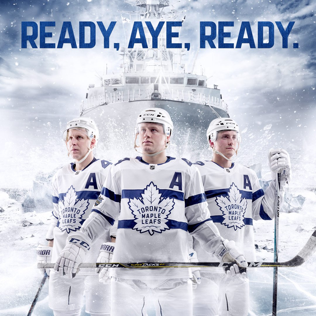 the best attitude 7e6f0 67a11 Maple Leafs 2018 NHL Stadium Series Uniforms Unveiled