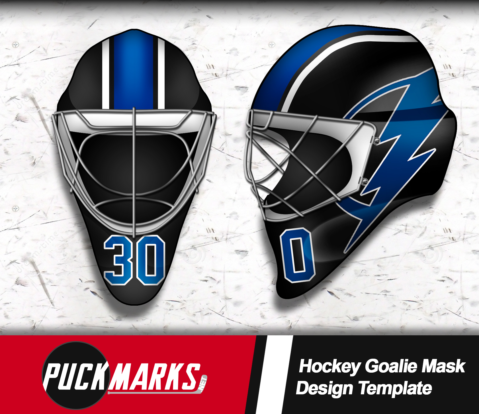 Get Our Realistic Hockey Goalie Mask Template