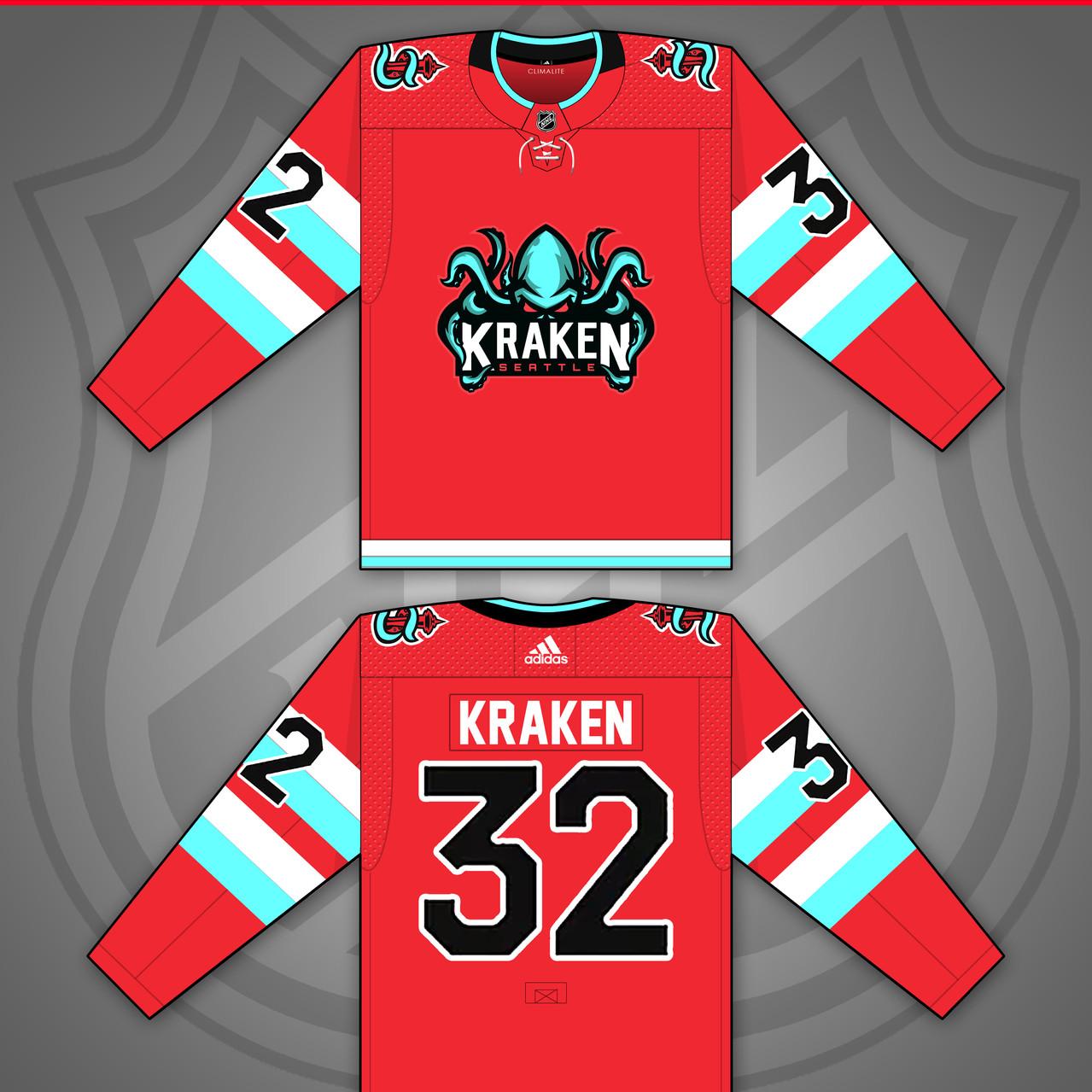 Seattle Kraken NHL Jersey Concept