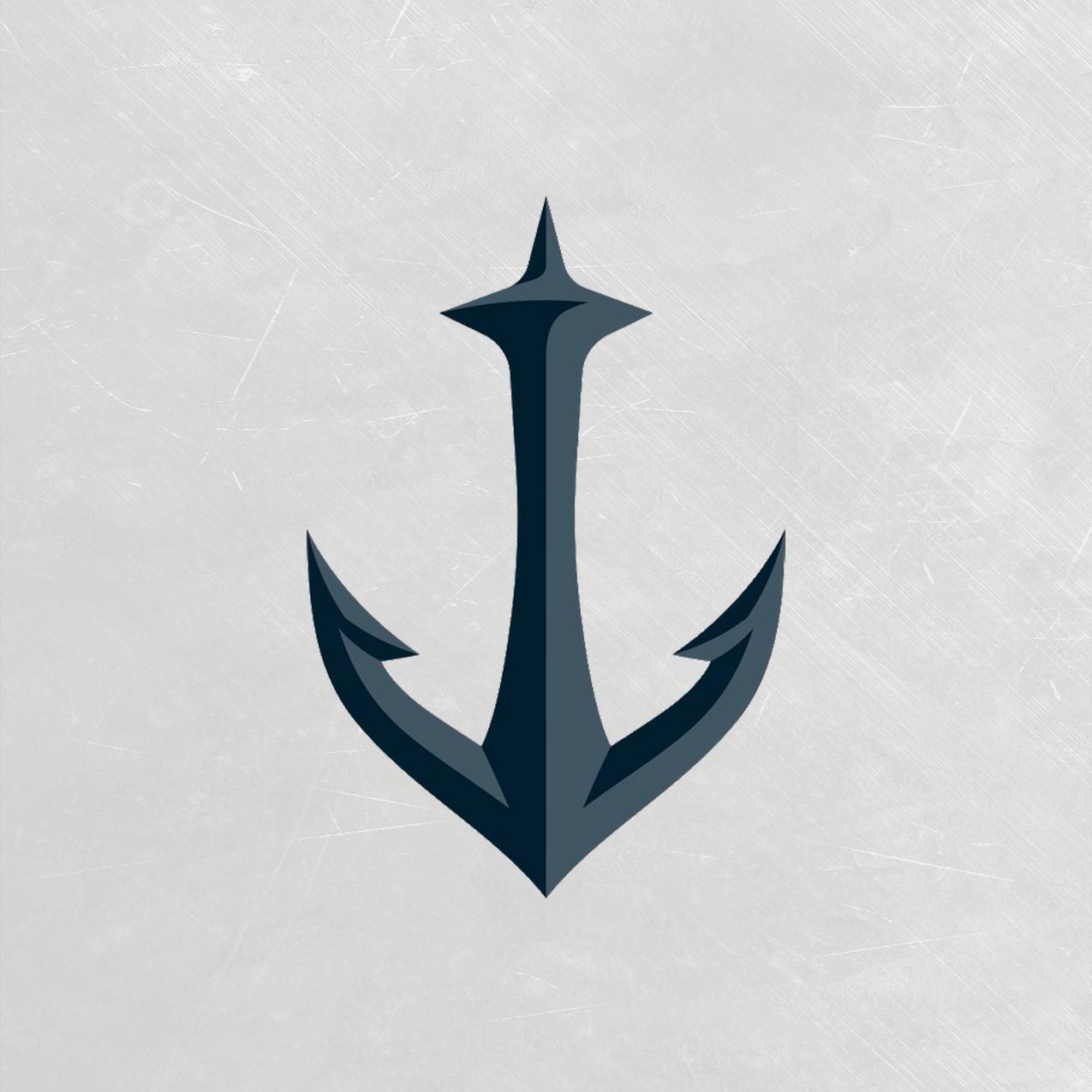 Seattle Kraken 2nd Logo - White