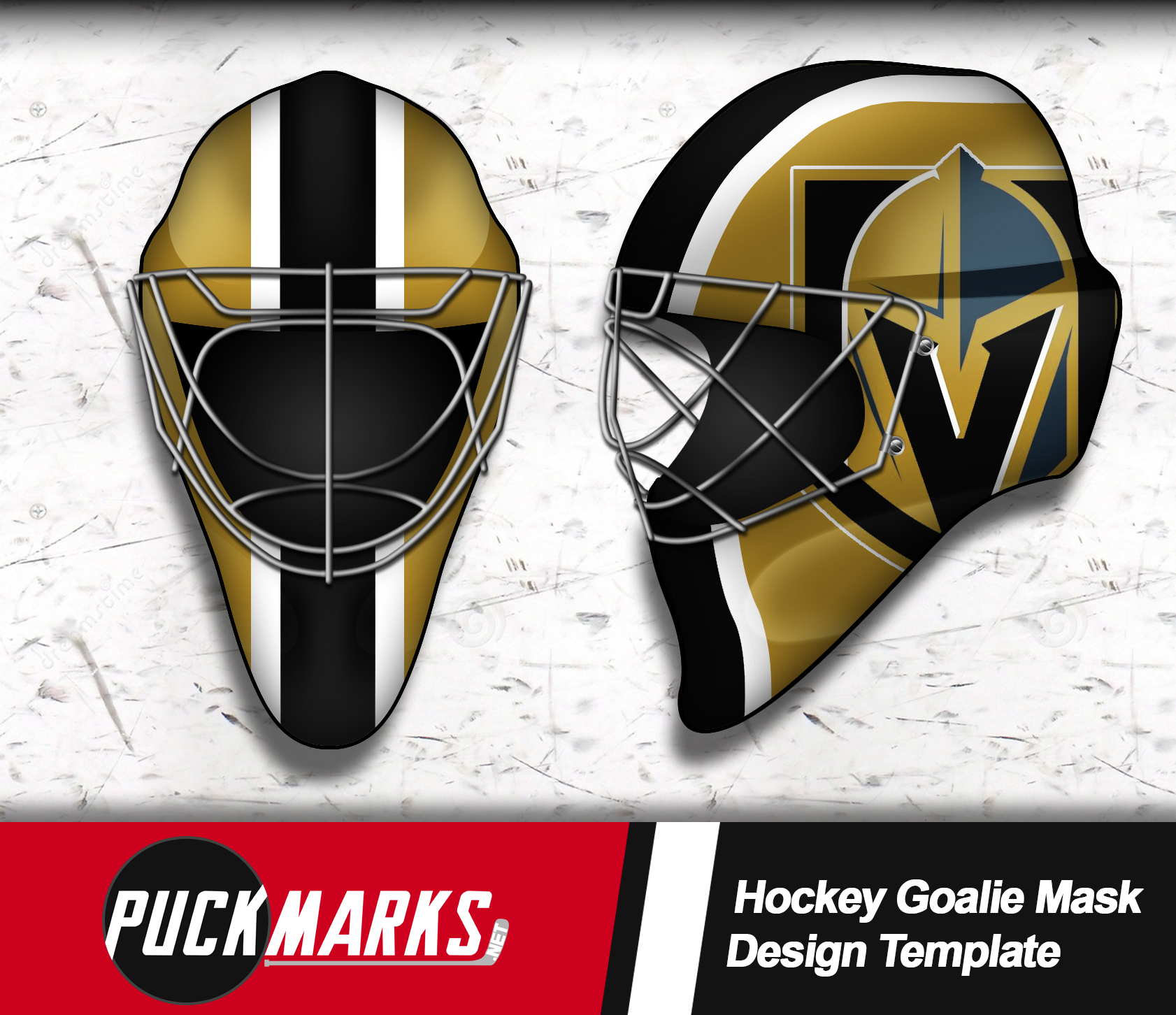 Golden Knights Goalie Mask Design