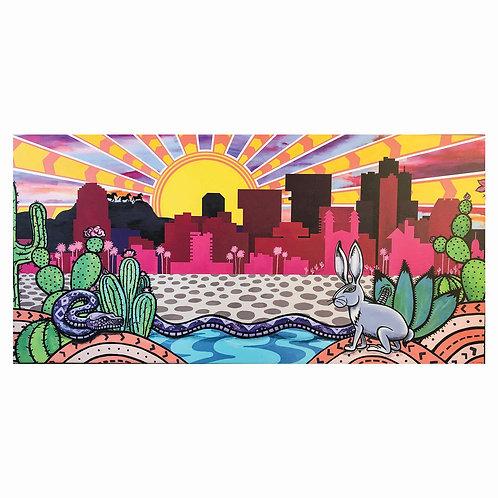 Phoenix Skyline Painting