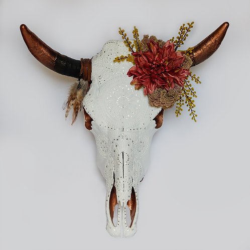 Cow Skull - Rose Gold