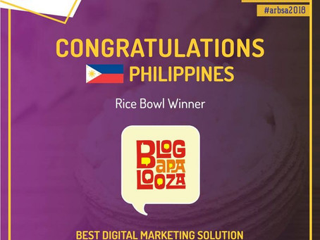 Blogapalooza wins Best Digital Marketing Solution in the Philippines