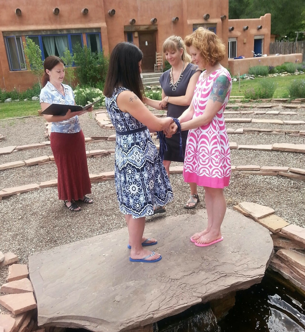 handfasting wedding ceremony same sex Taos celebrant officiant