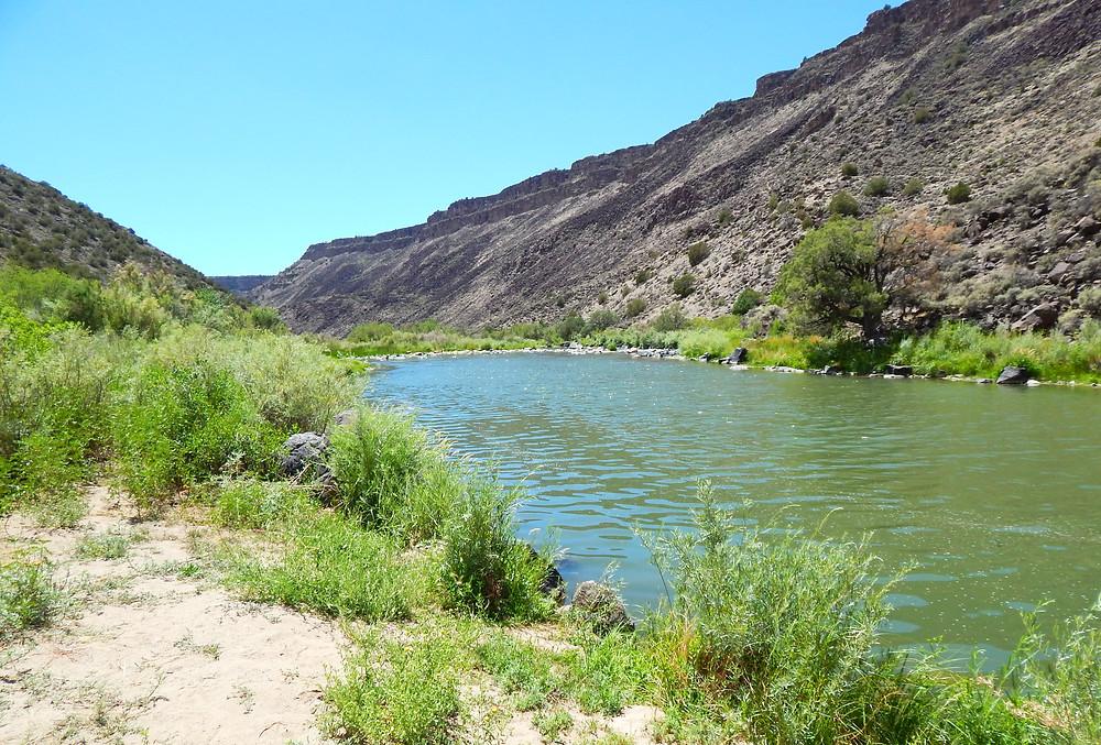 Rio Grande river Taos Pilar New Mexico water Orilla Verde Recreation Area