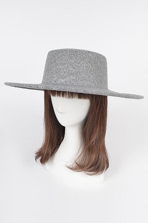 Wide Brim Flat Top Hat