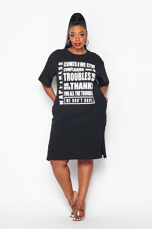 Happiness T-Shirt Dress