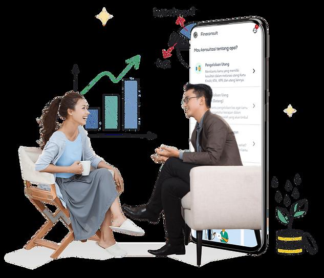fitur konsultasi perencanaan keuangan online halofina