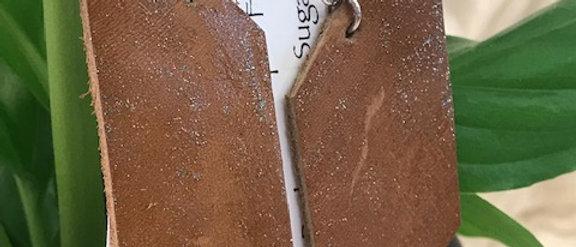 Brown Hand Cut Leather Earrings