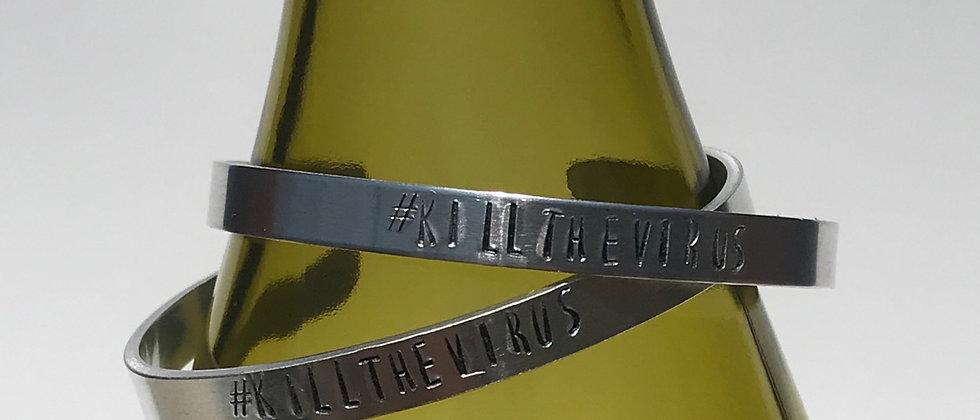 #killthevirus aluminum cuff