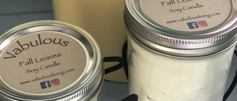Fall Leaves Soy Wax Candle