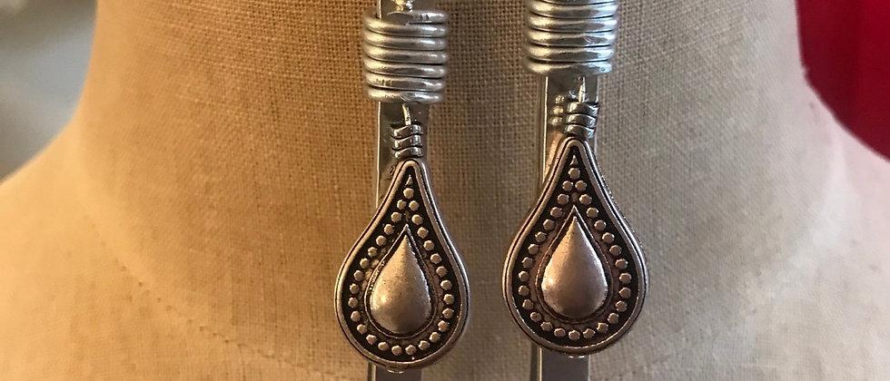 Handstamped Metal Earrings