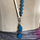 Thumbnail: Turquoise Glass Beads & White Leather