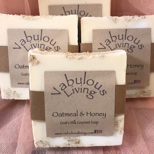 Oatmeal &Honey Gourmet Goat's Milk Soap