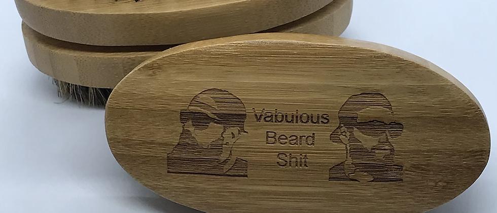 Oval Bamboo Beard Brush