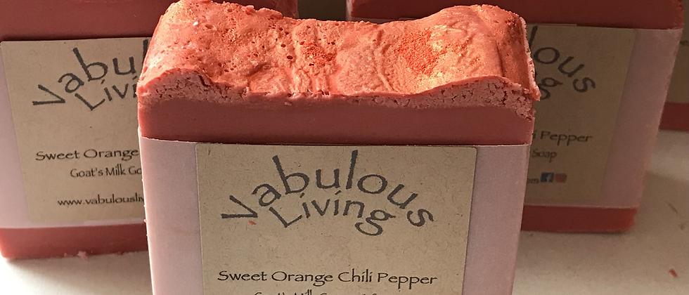 Sweet Orange Chili Pepper Goats Milk Soap