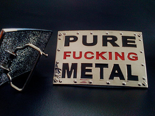 PURE FUCKING METAL - BELT BUCKLE
