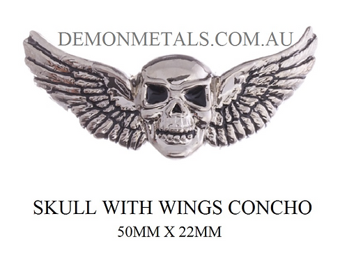 Skull With Wings Concho