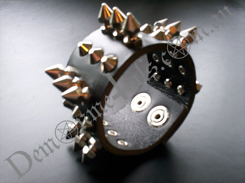 X3 Spike and Pyramid Stud Wristband