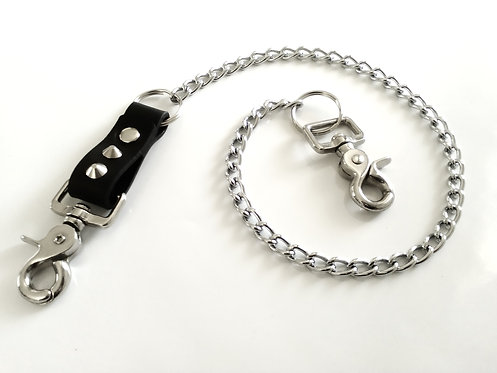 GENUINE LEATHER KEY CHAIN (STUDDED)