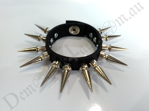 X2 ROW 32MM SPIKED WRISTBAND