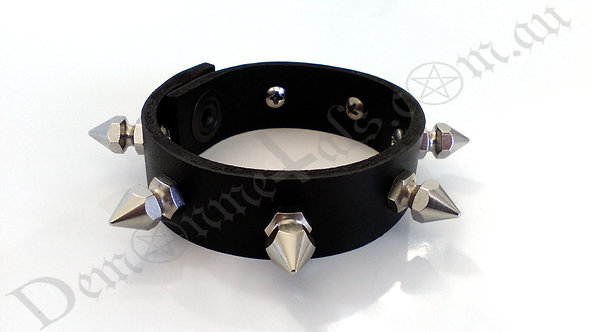 Spaced Thin Rocket-Head Spiked Wristband