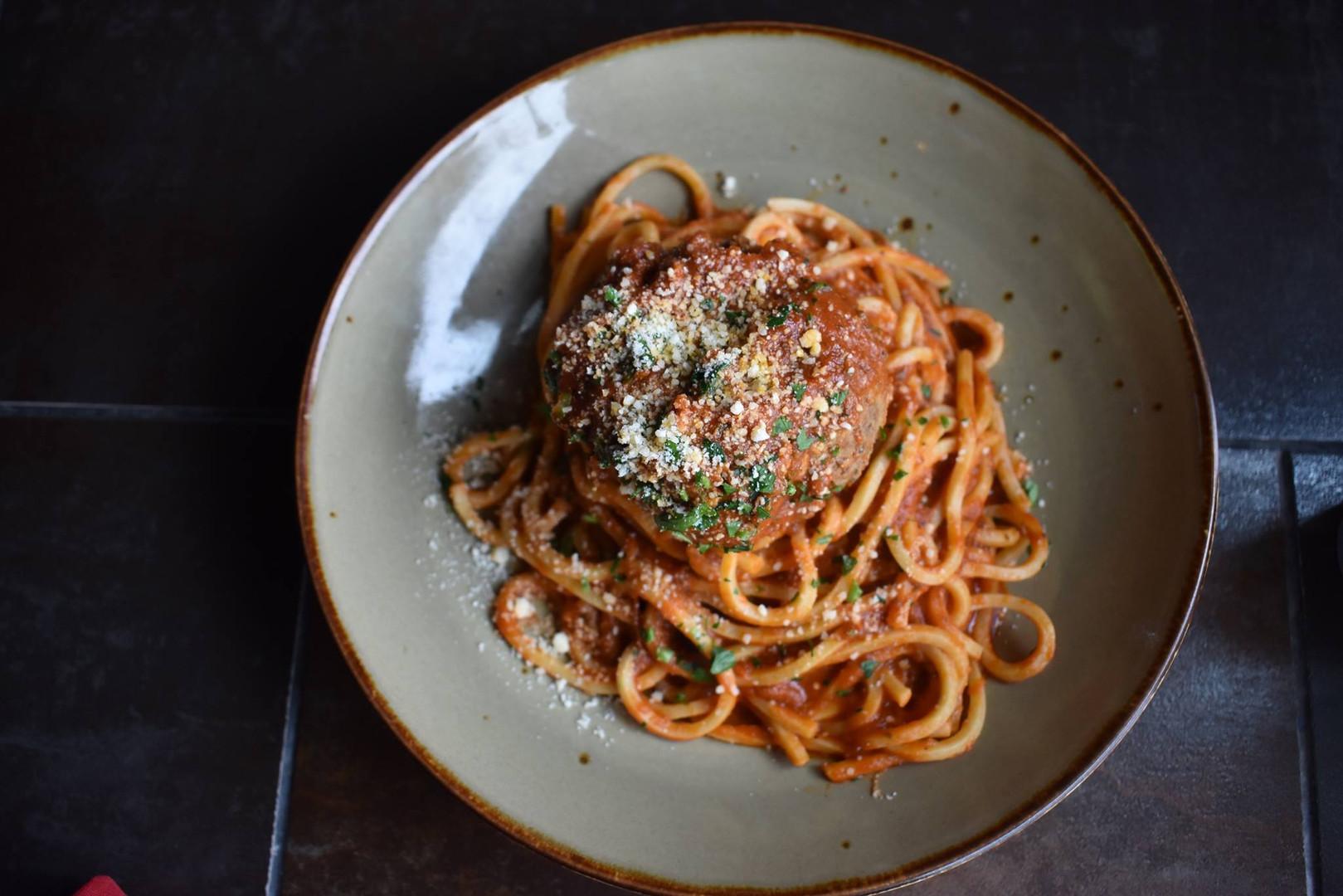 Lena's Meatball and Spaghetti