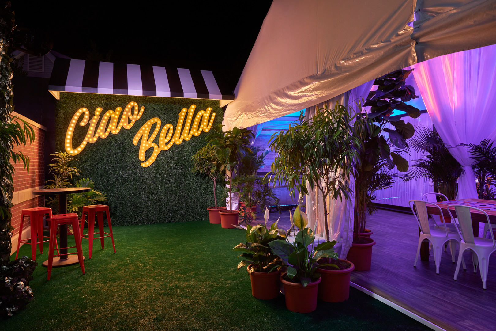 Snap a Photo at Our Ciao Bella Photo Wall!