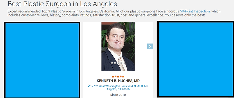 Dr. Kenneth Benjamin Hughes voted Best Plastic Surgeon in 2020 by Three Best Rated