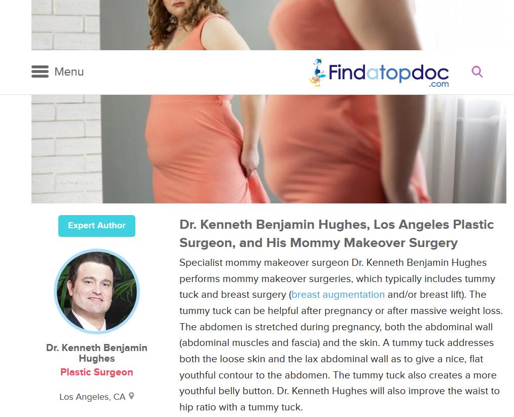 Dr. Kenneth Benjamin Hughes, Mommy Makeover Expert Los Angeles