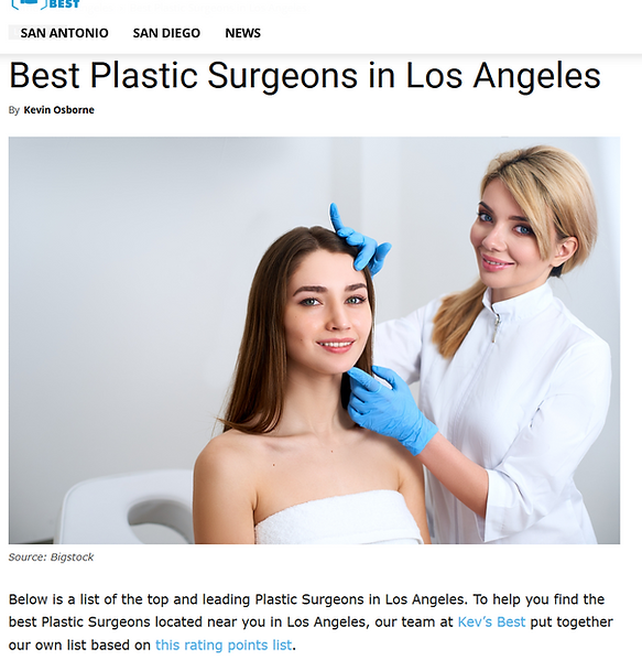 Dr. Kenneth Benjamin Hughes Voted Best Plastic Surgeon in Los Angeles