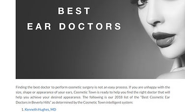 Dr. Kenneth Benjamin Hughes Voted Best Ear Plastic Surgeon in Los Angeles and Beverly Hills