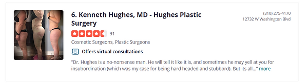 Dr. Kenneth Hughes Selected as Top 10 Best Cosmetic Surgeons in Los Angeles